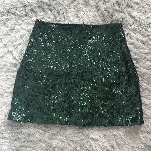 Urban outfitters sequined mini skirt